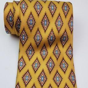 Jos. A bank 100% Silk Neck Tie Geometric Shapes